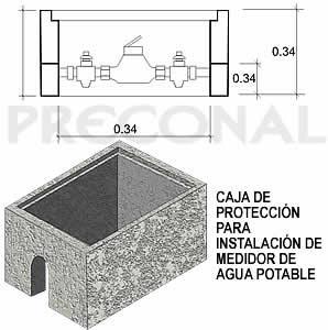Caja de protecci n para instalaci n de medidor de agua for Caja contador agua